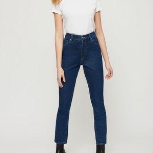 Dynamite Ultra high waist jeans in dark blue